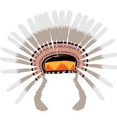 Feather headdress vector image