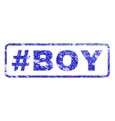 hashtag boy rubber stamp vector image vector image