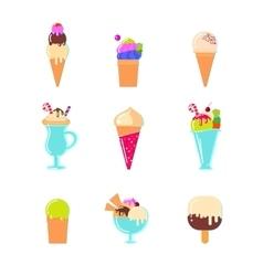 Ice cream bar in flat style vector image
