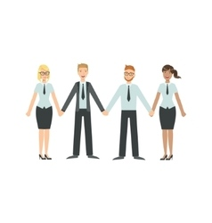 Managers Holding Hands Teamwork vector image vector image