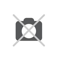 No photo camera icon flat vector