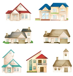 various houses vector image