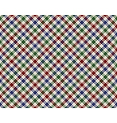 colored checked diagonal fabric texture seamless vector image
