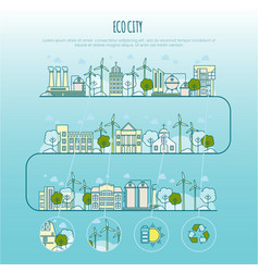 ecology city infographic template with vector image vector image