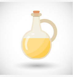 glass bottle with liquid flat icon vector image vector image