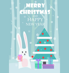 greeting card dedicated to christmas and vector image vector image