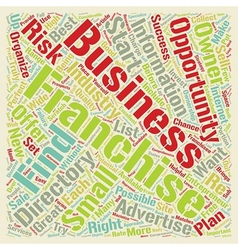 How to Find a Great Franchise Directory text vector image vector image