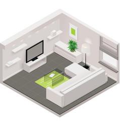isometric living room icon vector image