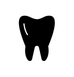tooth classic icon black vector image