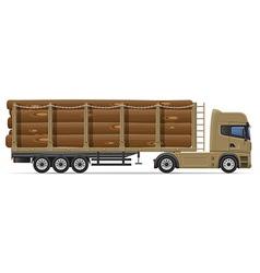 truck semi trailer concept 09 vector image vector image