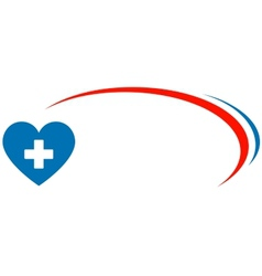 veterinarian background with heart and cross vector image
