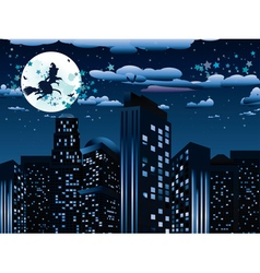 Witch is Coming to the City6 vector image