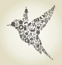 Bird art2 vector image vector image