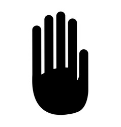 hand palm human symbol pictogram vector image