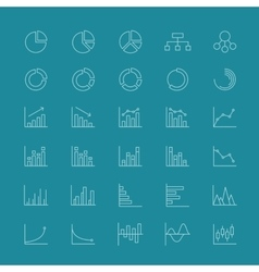 Line business charts and linear financial diagrams vector image
