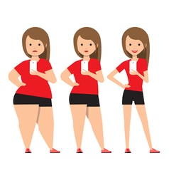 stages weight loss before and after vector image vector image