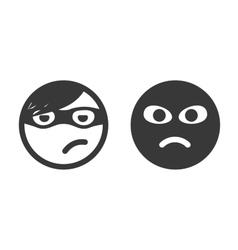 Thief smiley icons vector image