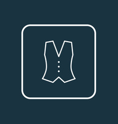 vest outline symbol premium quality isolated vector image vector image