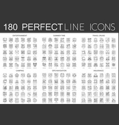 180 outline mini concept icons symbols of vector