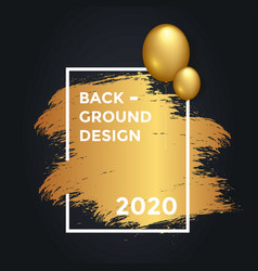 2020 background design template with ballon vector image