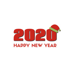 2020 happy new year greeting card red vector image