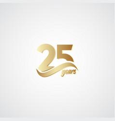 25 years anniversary celebration elegant gold vector