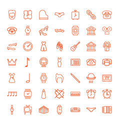 49 classic icons vector image
