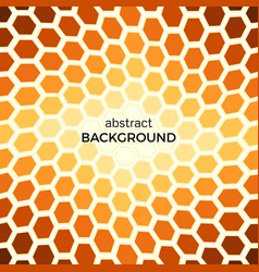 abstract background with orange hexagons vector image