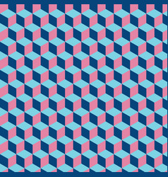 Abstract cube pattern colorful vector