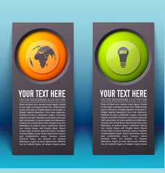 Abstract infographic vertical banners vector
