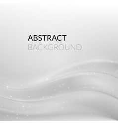 Abstract white silver background with smooth lines vector image