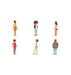 African american men and women vector