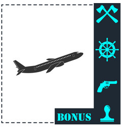 airplane icon flat vector image
