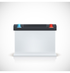 Auto battery front view vector