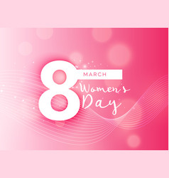 beautiful pink international womans day design vector image
