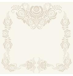 beige Floral pattern background vector image