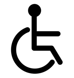 Black sign of the disabled icon vector