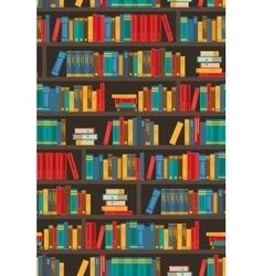 Book shelves decorative colorful icon poster vector