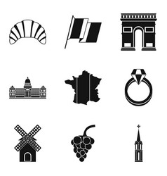 Booze icons set simple style vector