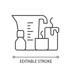 Candle making linear icon vector