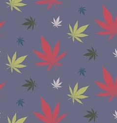 Cannabis pattern2 vector image