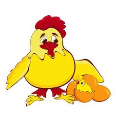 chicken mother vector image