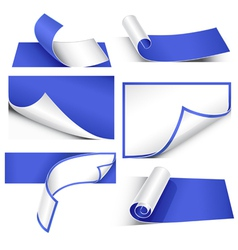 collection of papers vector image