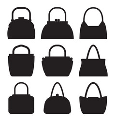 collection of women bags accessories for females vector image