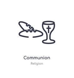 Communion outline icon isolated line from vector
