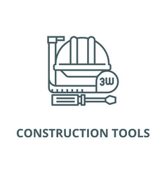 construction toolsmeter hard line icon vector image