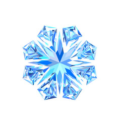 cute blue ice snowflake vector image