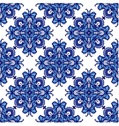 damask seamless pattern oriental tiles vector image