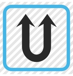 Double Forward Arrow Icon In a Frame vector