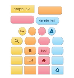 Elegant Colorful Buttons vector